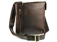 Компактная кожаная наплечная сумка Visconti ML25 taylor (brown)