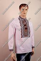 Мужская вышиванка на домотканом полотне Степан