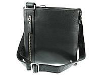 Компактная кожаная наплечная сумка Visconti ML25 taylor (black)