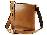 Компактная кожаная наплечная сумка Visconti ML25 taylor (tan)