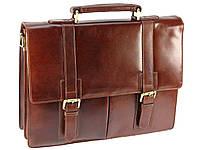 Мужской деловой кожаный портфель Visconti VT6 - Bennett