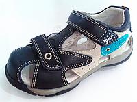 Детские кожаные босоножки на мальчика ортопедия Тom.М. оптом 26-30