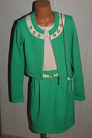 Платье с болеро на девочку 42 р бирюзовое .