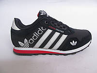 Кроссовки подростковые Adidas кожаные, синие (адидас)р.36,38,39
