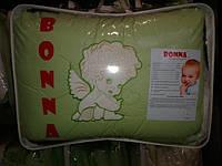"""Постельный набор в детскую кроватку """"Bonna"""" вышивка Теддик клетка"""