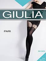 Колготки женские с имитацией под чулки с подвязками-сердечками Pari 60 (модель 7)