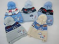 Весенняя шапка на завязках для мальчика