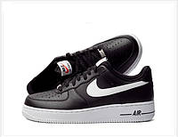 Мужские кроссовки Nike air force 1 Low  black/white