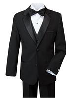 Нарядный выпускной чёрный костюм пятёрка на мальчика