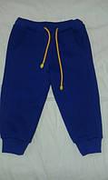 Штаны детские спортивные теплые демисезонные ярко-синие, рост 80