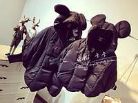 Женская Модная Куртка Капюшон с Ушками Черная