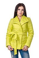 Элегантная женская куртка деми Миледи (лимон), фото 1