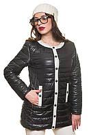 Длинная куртка женская черная весна-осень