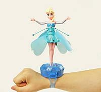 Кукла летающая Эльза с подставкой-браслетом