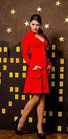 Коттоновое Красное платье женское