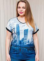 Стильная футболка с городом, фото 1