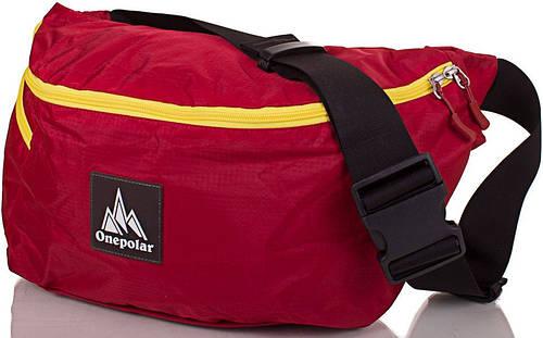 Поясная женская сумка 12 л. ONEPOLAR (ВАНПОЛАР) W5271-red красный