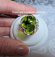 Серебряное кольцо 925 пробы с накладками золота 375 пробы с янтарем