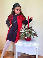 "Платье с кардиганом ""Цветок"" 1, размеры 104 - 128 см"