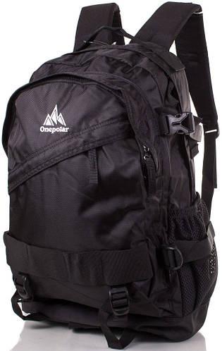 Рюкзак городской стильный 30 л. Onepolar W1302-black черный