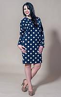 Молодёжное платье полубатального размера Горошки