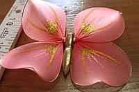 Бабочка для штор кораллового  цвета
