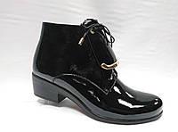 Стильные ботинки Erisses на низком каблуке и шнурками спереди по подъему. Большие размеры.
