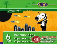 Zibi Капсулы для чернильных ручек, черные по 6 шт. арт. ZB.2272-02
