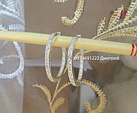 Серебряные серьги Кольца с камнями