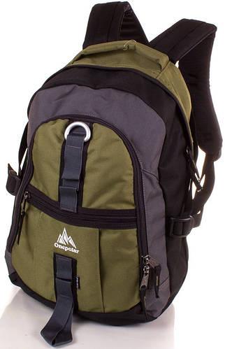 Удобный мужской городской рюкзак от торговой марки Onepolar (ВАНПОЛАР) W731-green зелёный