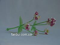 Бело-розовый декор из пенопласта (1упаковка 5 штук)