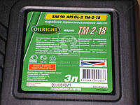 Масло трансмиссионное OIL RIGHT Тэп-15В SAE 90 GL-2 (Нигрол) (Канистра 3л) 2553