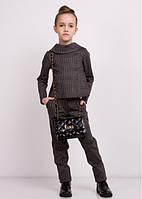 """Школьный костюм """"Гвен"""" (кофта + брюки); 104-110, 116, 122, 128, 134, 140 размер"""