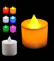 Свеча декоративная, жёлтая, в комплекте с батарейками.