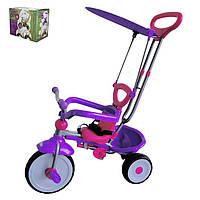 Детский трёхколёсный велосипед Baby Tilly TT-2012 сиреневый с розовым