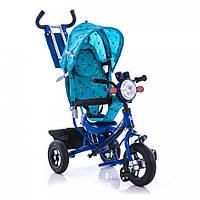 Детский трёхколёсный велосипед Azimut BC-17B Air фара голубой