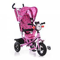 Детский трёхколёсный велосипед Azimut BC-17B Air фара розовый