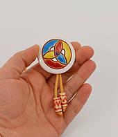 Кулон керамический с подвижным креплением - подвеска авторская работа глазурь