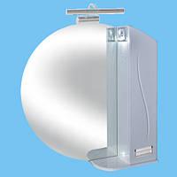 Зеркало для ванной З-20 круглое Фрезеровка №1