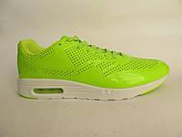 Кроссовки подростковые Nike Air Max салатовые, лаковые (найк аир макс)р.38,39,40,41
