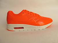 Кроссовки женские Nike Air Max оранжевые, лаковые (найк аир макс)р,36,37,39