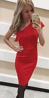 Коктейльное платье красное на одно плечо (арт. 234527769)