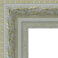 Багетная рама под заказ 1034-white (ширина профиля 57 мм). Для икон, картин, зеркал, фотографий