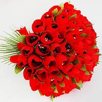 Огромный букет из красных тюльпанов