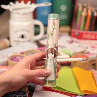 Жестяной пенал для ручек и карандашей с картинкой