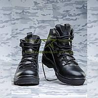Ботинки  зимние кожа черные Атака