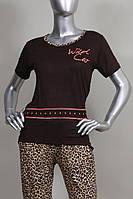 Пижама-капри с леопардовым принтом