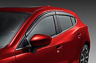 Ветровики дефлекторы на окна Mazda 3 2014+ новые оригинальные