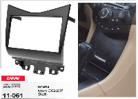 2-DIN переходная рамка HONDA Accord 2002-2007, CARAV 11-061