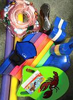 Доски, калабашки, нудлы, лопатки , перчатки для плавания
